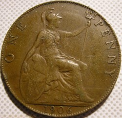 Edward VII - One Penny 1906 - Great Brit...