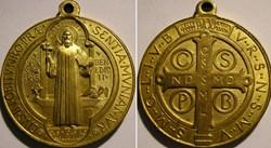 Saint Benedict -  Jubilee Medal 1880