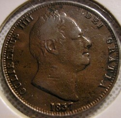 William IV - HalfPenny 1837 Kingdom of G...