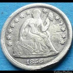 1856 Dime / 10 Cents
