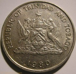 Trinitad & Tobago - 25 Cents 1980