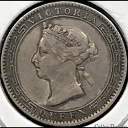 Victoria - 25 Cents 1900 Ceylon, British