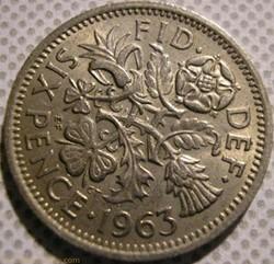 Elizabeth II - 6 Pence 1963 - UK