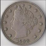 Five Cents Lib. Head - (1883-1913) USA