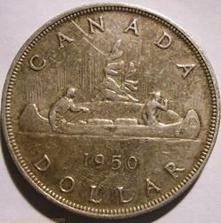 George VI - 1 Dollar 1950
