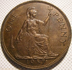 George VI - One Penny 1937 - UK