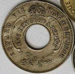 Edward VII - 1/10 Penny 1908 - West Afri...