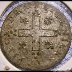 monnaie france colony louis xiv 30 deniers 1709 aa dit mousquetaire