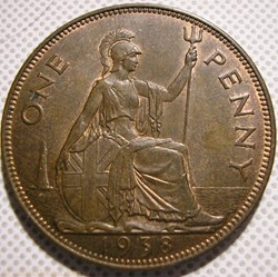 George VI - One Penny 1938 - UK