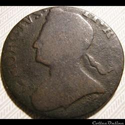 1729-1739 Half Penny No Regal - George II of Great Britain