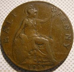 George V - Half Penny 1913 - United King...