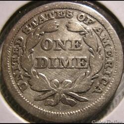 monnaie monde etat uni 1847 dime 10 cents