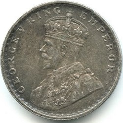 George V - 2 Annas 1914 Calcutta - Briti...