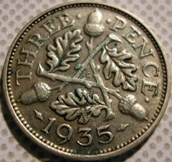 George V - 3 Pence 1935 - UK