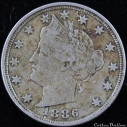 1886 5 Cents