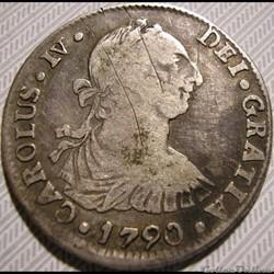 Bolivia - 2 Reales 1790/89 Potosi - Carlos IV de España