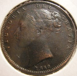 Victoria - One Farthing 1850 - Kingdom o...