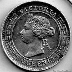 Victoria - 10 Cents 1893 British Ceylon