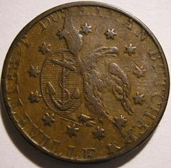 Belleville, Lower Canada, 1837 HalfPenny...