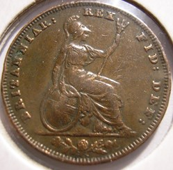 William IV - One Farthing 1836 Kingdom o...
