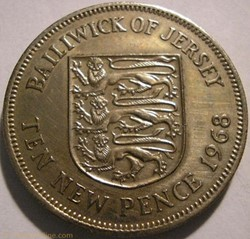 States of Jersey - Ten New Pence 1968 - ...
