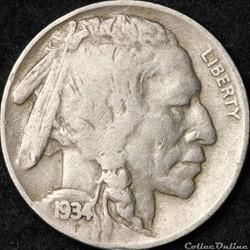 1934 Denver 5 Cents