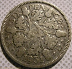 George V - 6 Pence 1931 - Great Britain