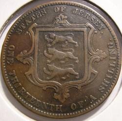 Victoria - 1/13 Shilling 1870 - Jersey (...