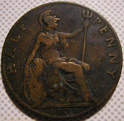 Edward VII - Half Penny 1904 - Great Bri...
