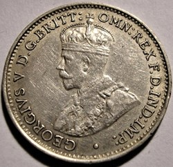 George V - Three Pence 1934 Melbourne - ...