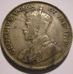 George V - 50 Cents 1913 - East Africa &...