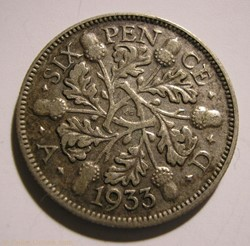 George V - 6 Pence 1933 - Great Britain