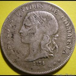 2 Decimos 1874 Medellin