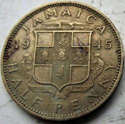 George VI - Half Penny 1945 - Jamaica
