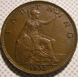 George V - Farthing 1932 - Great Britain...