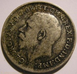 George V - 3 Pence 1920 - United Kingdom...
