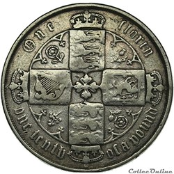 Victoria - One Florin 1877 - Kingdom of Great Britain