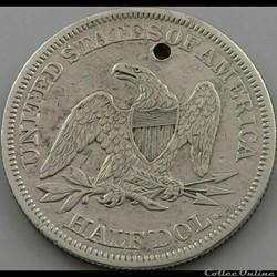 monnaie monde etat uni 1858 half dollar
