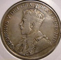 George V - 50 Cents 1918 Newfoundland