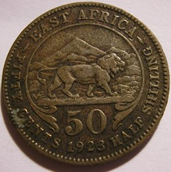 George V - 50 Cents 1923 - East Africa