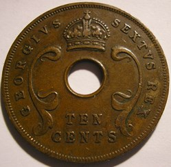George VI - 10 Cents 1951 - East Africa
