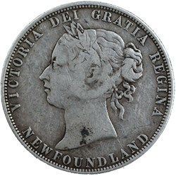 Victoria - 50 Cents 1881 Newfoundland