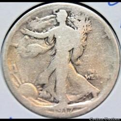 1917 San Francisco Half $ - S Obverse