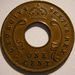 George VI - One Cent 1952 - East Africa