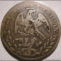 monnaie monde mexique mexico 2 reales 1842 32 ga ist republic