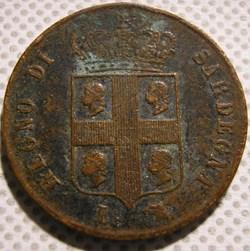 1842 Royaume de Sardaigne, 3 Centesimi -...