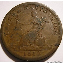 George III - HalfPenny Token 1812 H - Trade & Navigation