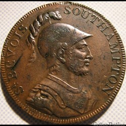 1791 HalfPenny Sir Bevois - Southampton