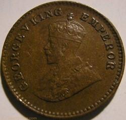 George V - 1/12 Anna 1923 Calcutta - Bri...