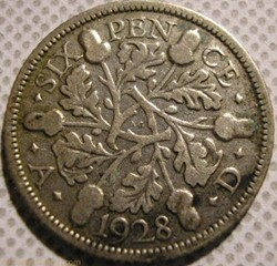 George V - 6 Pence 1928 - Great Britain